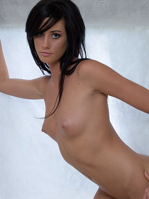 sweet brunette strip